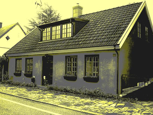 Maison /  House  No-50.   Båstad -  Suède  /  Sweden.  21-10-2008 -  Photo ancienne postérisée