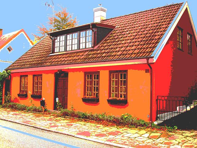 Maison /  House  No-50.   Båstad -  Suède  /  Sweden.  21-10-2008 - Postérisation