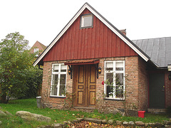Maison suédoise / Swedish house.  Båstad  /  Suède - Sweden.  Octobre 2008