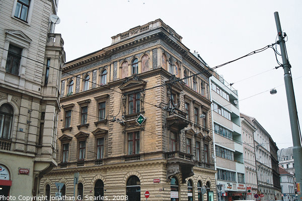 Corner of Kremcova and Myslikova, Prague, CZ, 2008