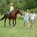 3 girls, 1 horse