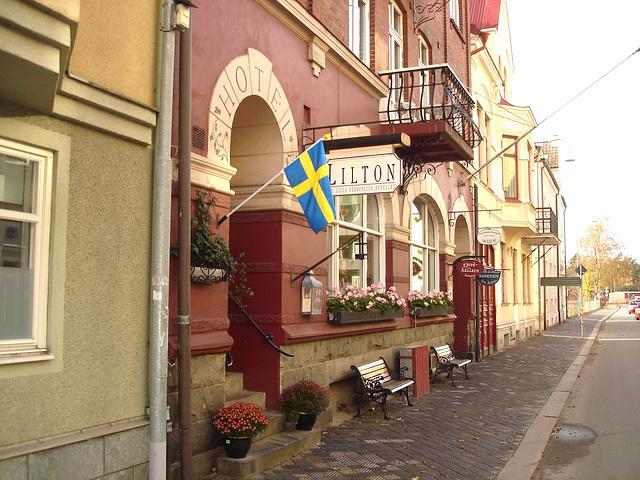 Lilton hotel façade / Ängelholm - Suède / Sweden - 23 octobre 2008