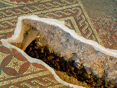 Roman Mosaic and Flue from the Hypocaust