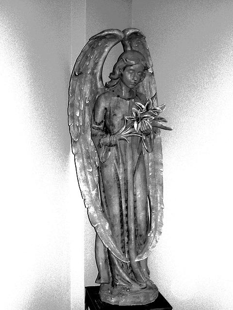 Ange funéraire / Funeral angel -  Dans ma ville / Hometown.   6 mai 2009-  Effet apparition en N & B