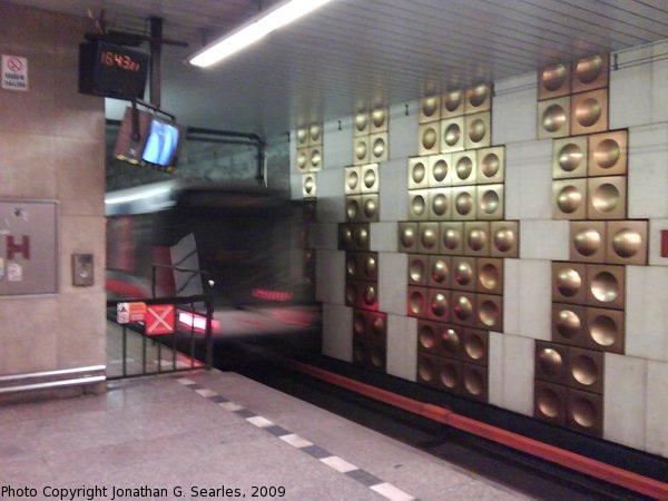 Metro Train at Haje, Prague, CZ, 2009