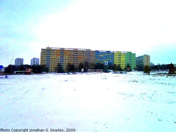 Sidliste Krc in the Snow, High-Saturation Version, Prague, CZ, 2009