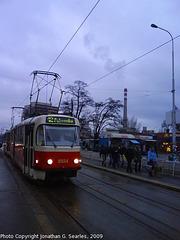 DPP #8554 at Nadrazi Holesovice, Prague, CZ, 2009