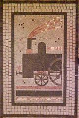 Train Mosaic in Palac Adria, Prague, CZ, 2009