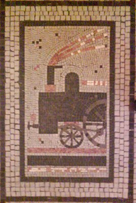 Train Mosaic in Palac Adria, Prague, CZ, 2009