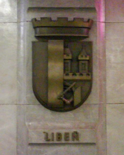 Liben Coat of Arms in Palmovka Metro Station, Prague, CZ, 2009