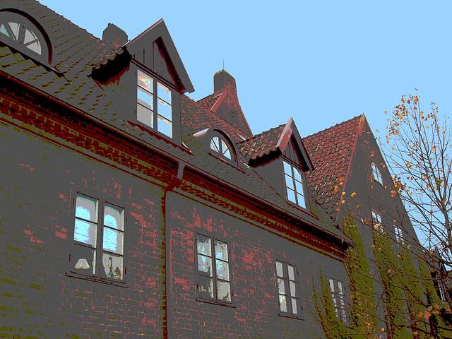 Maison  Skanegarden house - Båstad / Suède - Sweden.  21-10-2008 -  Postérisation hantée