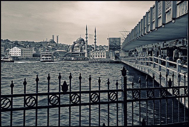 Galata bridge - duotone