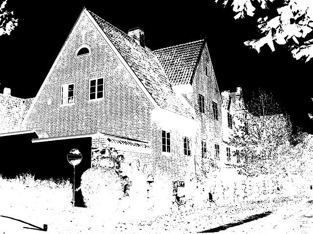 Maison  Skanegarden house - Båstad / Suède - Sweden.  21-10-2008  - Négatif bichromisé en N & B