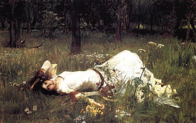 Ophélia, œuvre de John William Waterhouse