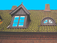 Maison  Skanegarden house - Båstad / Suède - Sweden.  21-10-2008 -  Avec bleu ajouté