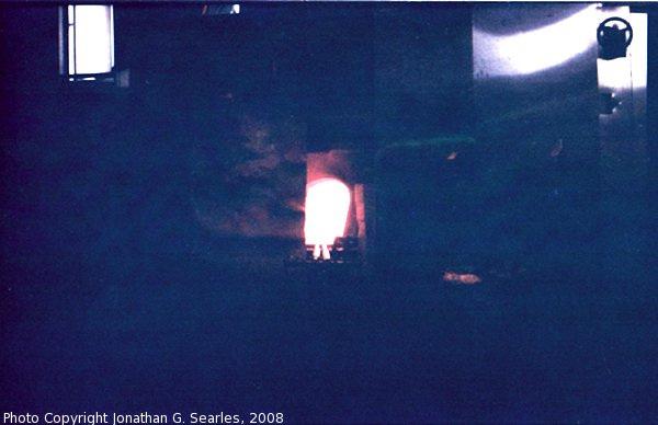 Glass Furnace Flame, Sklarna Nizbor, Nizbor, Bohemia (CZ), 2008