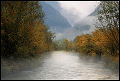 misty river......