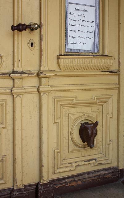 Tür zum Metzgerladen