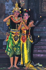 Rama and Sita at the Kecak dancing