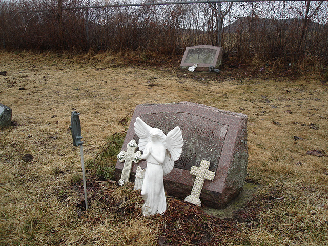 Mountain view cemetery. Saranac lake area.  NY. USA . March 29th 2009- Without / Sans flash