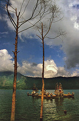 Balinese Hindu temple in the Lake Batur