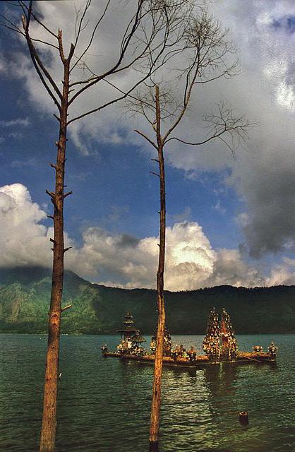 Balinese Hindu temple in the Lake Batur