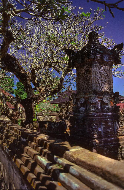 Private temple behind the wall