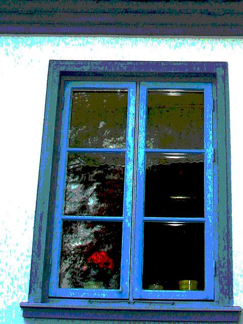 Maison aux fenêtres reflectives / Windows reflections house - Båstad /  Suède - Sweden.   21-10-2008  - Postérisée