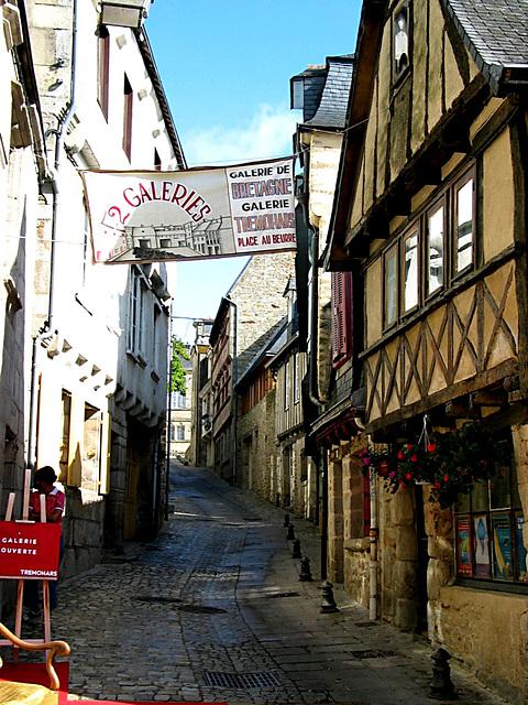 Gasse in Quimper - Bretagne