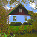 Maison suédoise dans un coin paisible -  Black & White swedish house - Båstad  / Sweden - Suède.   21-10-08 - Postérisée