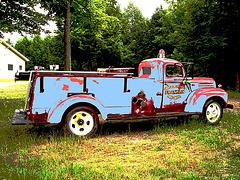 Ancien camion de pompiers de Franklin  / Franklin former red fire truck - Blue fire emergency !  Au feu bleu !