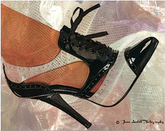 All a girl needs......Heels and lace..