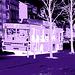 Bus flou numéro 5 / Blurry bus number 5  -  Helsingborg / Sweden - Suède .   22 octobre 2008- Tout en bleu / All in blue.