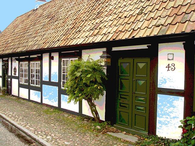 House number 43  - Maison numéro 43.  Båstad  /  Suède - Sweden.  21-10-2008 - Postérisation