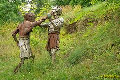 Skulptur im Park von Schloß Frankenberg