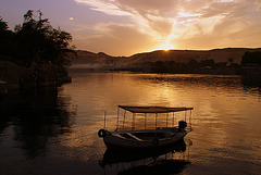 Sunset in Aswan