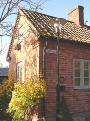 Gamblebygränd house /  Le carrefour Gamblebygränd  -  Laholm / Sweden - Suède.  25 octobre 2008