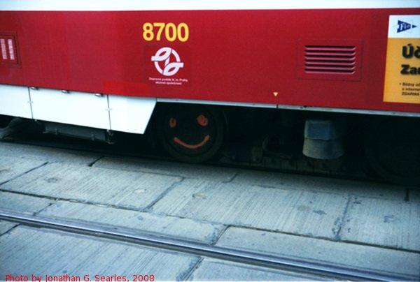 Smiley On The Wheel of DPP #8700, I.P. Pavlova, Prague, CZ, 2008