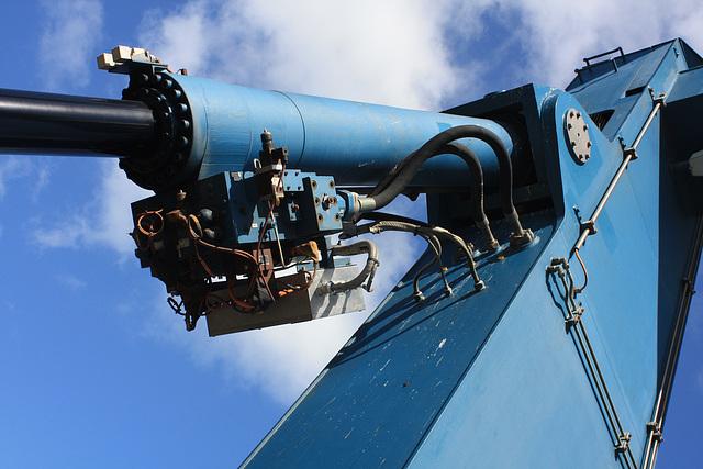 hydraulische Hubbrücke / hydraulics of a liftingbridge