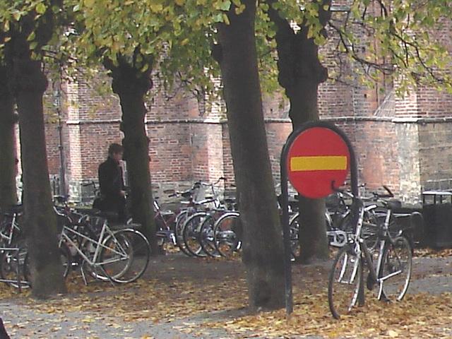 Église et vélos /  Church & bikes scenery  -  Helsingborg / Suède - Sweden.  22 octobre 2008