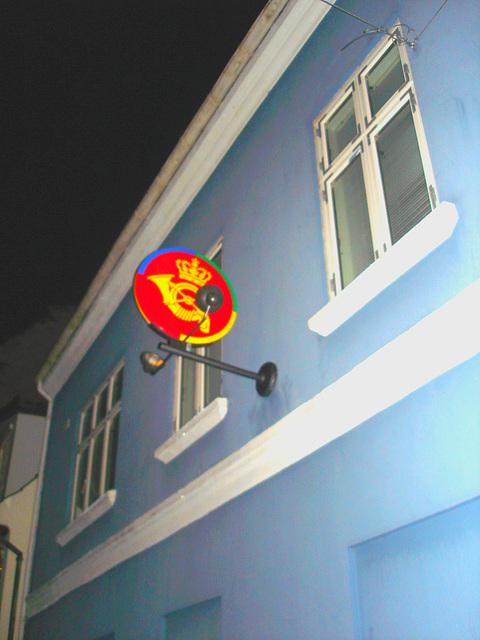 "Façade et enseigne "" Couronne & cor "" /  Crown & horn sign façade /  Helsingor , Danemark - 24-10-08"
