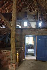 Gulfhaus : Blick vom Stall über die Diele durch die Stube