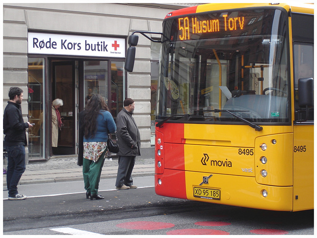 5A Husum Torv yellow danish bus -  Copenhagen /   October 19th 2008
