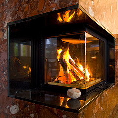 its time to heat the fireplace again.......