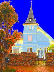 Tornvillan yours / Tornvillan vôtre !  Båstad / Suède - Sweden - Changement de couleurs et postérisation photofiltrée.