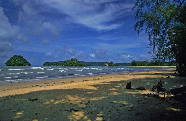 Khao Lak beach in the Phang Nga province 1987
