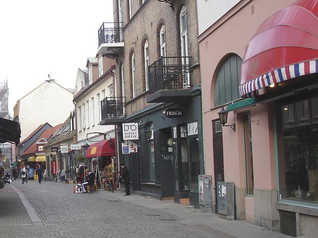 Scène de rue commerciale à la suédoise /  Direkt optik scenery  -   Helsingborg  /  Suède - Sweden.  22 octobre 2008