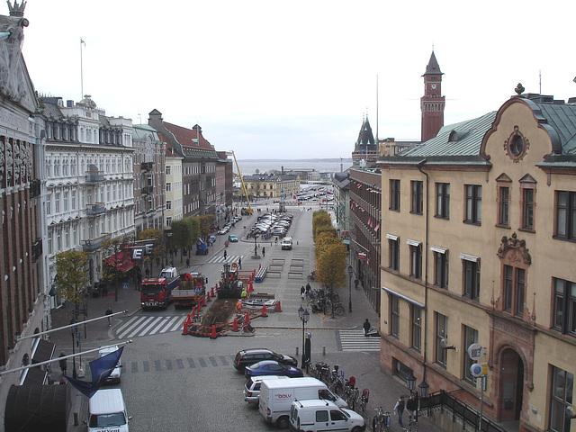 Du haut des escaliers menant à la Tour Viking / From the top of the tower stairs.   Helsinborg / Suède - Sweden.   22 octobre 2008