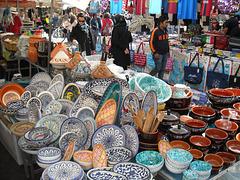 Ceramiche al mercato