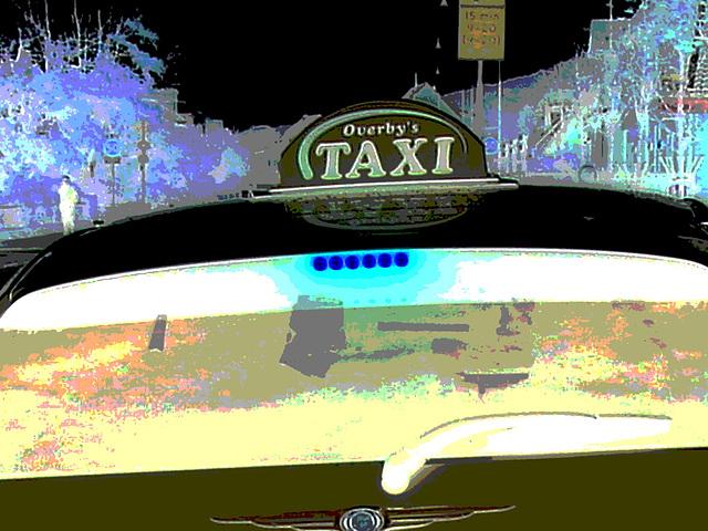 Overby's taxi -  Båstad  /  Suède - Sweden.  21-10-2008 -  Négatif postérisé.